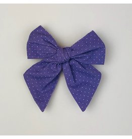 Nola Tawk White Dots on Purple Sailor Bow