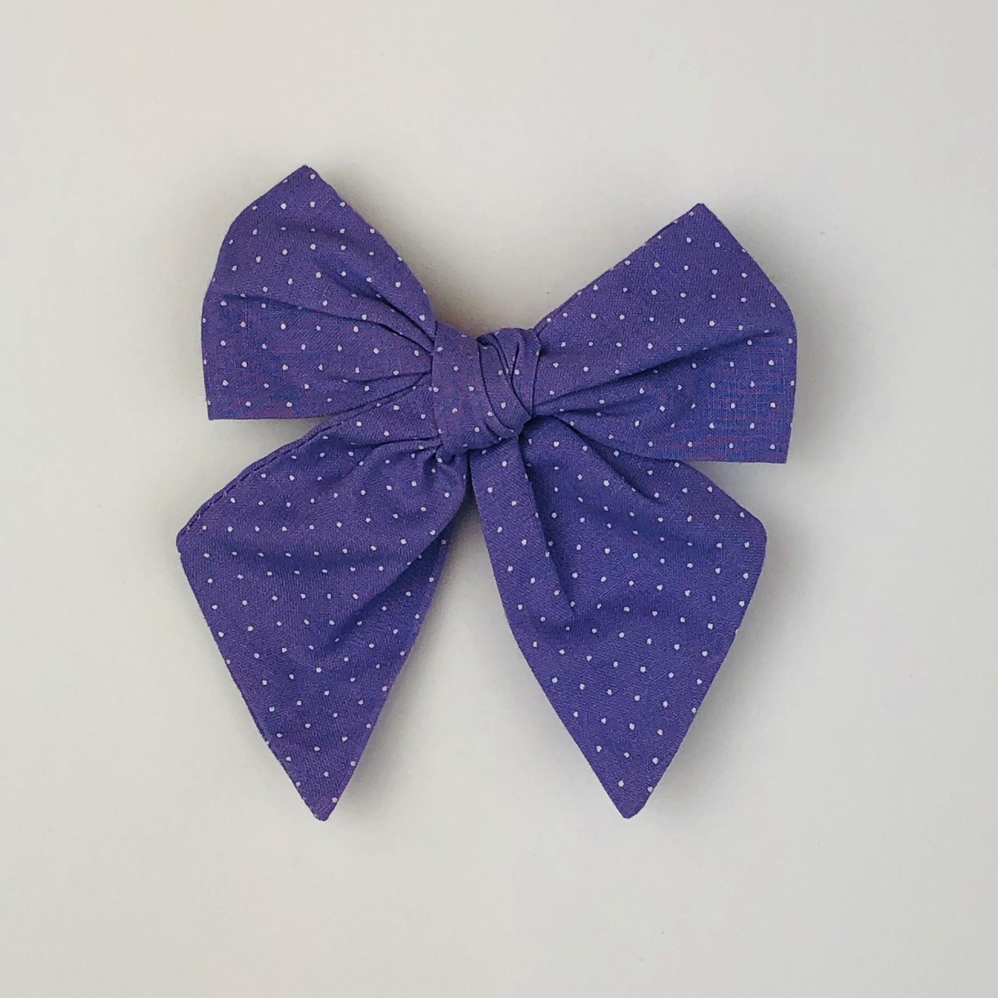 Nola Tawk White Dots on Purple Sailor Bow