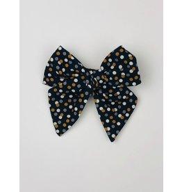 Nola Tawk Black & Gold Confetti Sailor Bow