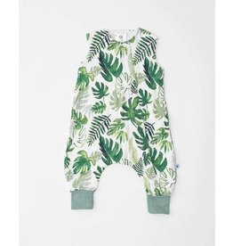 little unicorn little unicorn Sleep Romper - Tropical Leaf