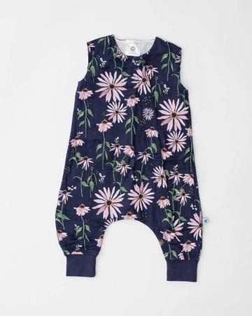 little unicorn little unicorn Sleep Romper - Dark Coneflower