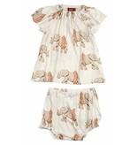 Milkbarn Milkbarn Bamboo Dress & Bloomer Set- Tutu Elephant