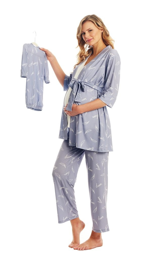 Everly Grey Everly Grey Analise 5-Piece Mom & Newborn Baby PJ Set - Dream