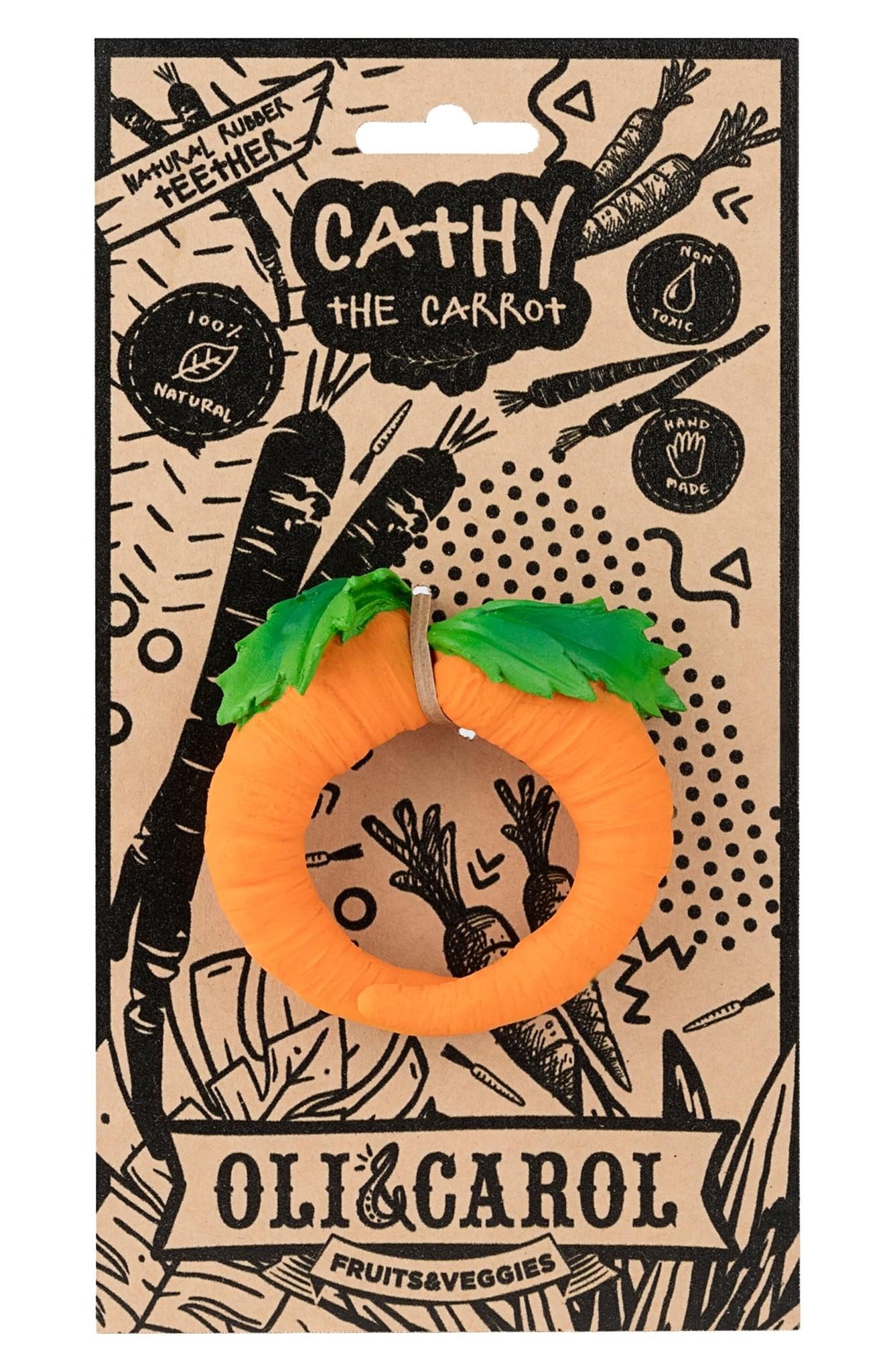 Oli & Carol Oli & Carol Natural Rubber Fruit & Veggie Teethers