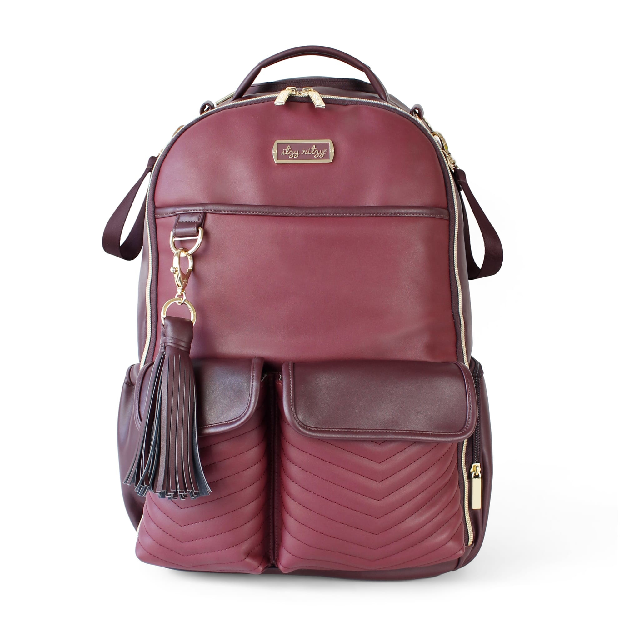 Itzy Ritzy Diaper Bag Backpack O Merlot
