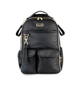 Itzy Ritzy Jetsetter Black Boss Diaper Bag Backpack