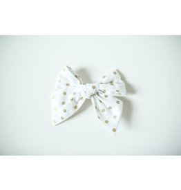 Nola Tawk Gold on White Confetti Sailor Bow