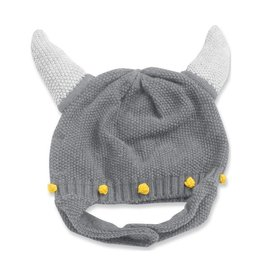 Angel Dear Viking Helmet Hat - Gray