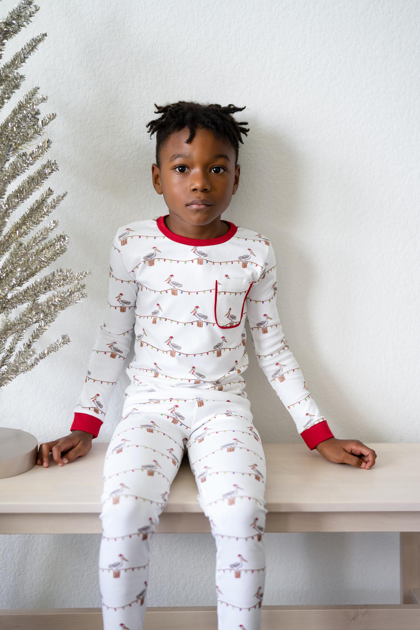 Nola Tawk Christmas Pelicans Organic Cotton PJ Set