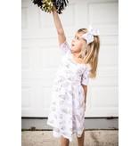 Nola Tawk Black & Gold Organic Cotton Dress