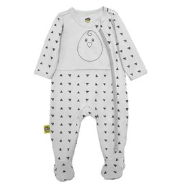 Nested Bean Nested Bean Zen Footie - This Way N' That Way (Grey)