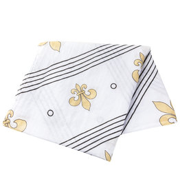 Little Hometown Fleur de Lis Bamboo Swaddle Blanket