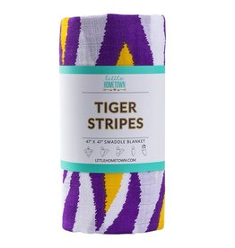 Little Hometown LSU Tiger Stripe Bamboo Swaddle Blanket