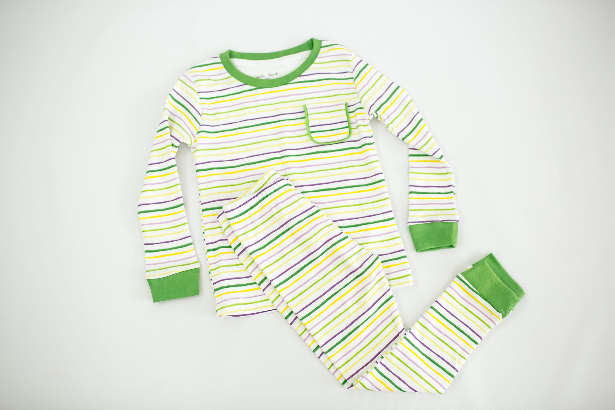 Nola Tawk Mardi Gras Stripes Organic Pajamas