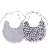 Emerson and Friends Navy Floral Baby Bib