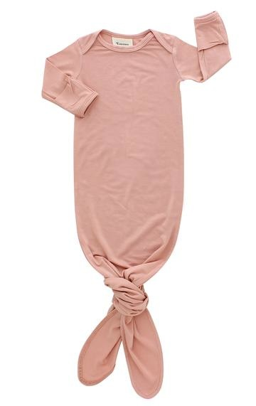 Emerson and Friends Dusty Rose Gown and Hat Set - Bamboo
