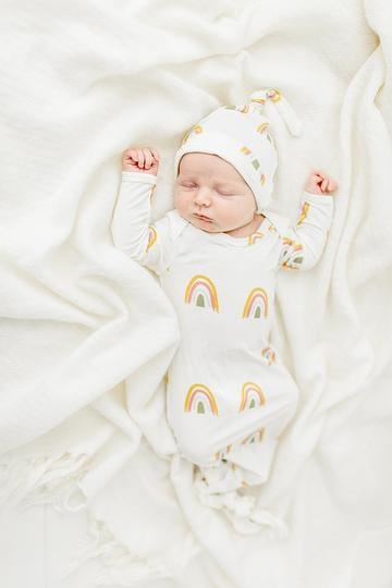 Emerson and Friends Rainbow Gown and Hat Set - Bamboo