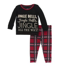 KicKee Pants KicKee Pants Long Sleeved PJ Set - Jingle Bells