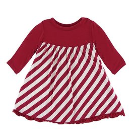 KicKee Pants KicKee Pants Classic Long Sleeve Swing Dress - Candy Cane Stripe