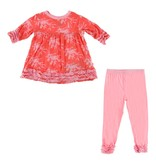 KicKee Pants KicKee Pants Long Sleeve Babydoll Outfit Set - English Rose Leafy Sea Dragon