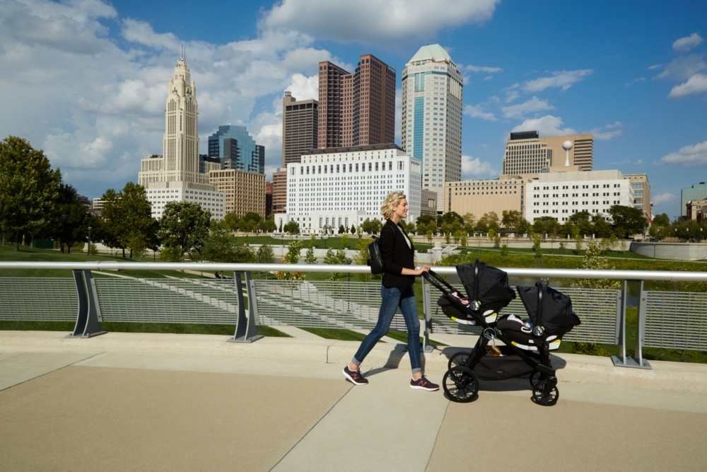 Baby Jogger Baby Jogger City Select LUX Stroller Granite floor model - cubside or local delivery only