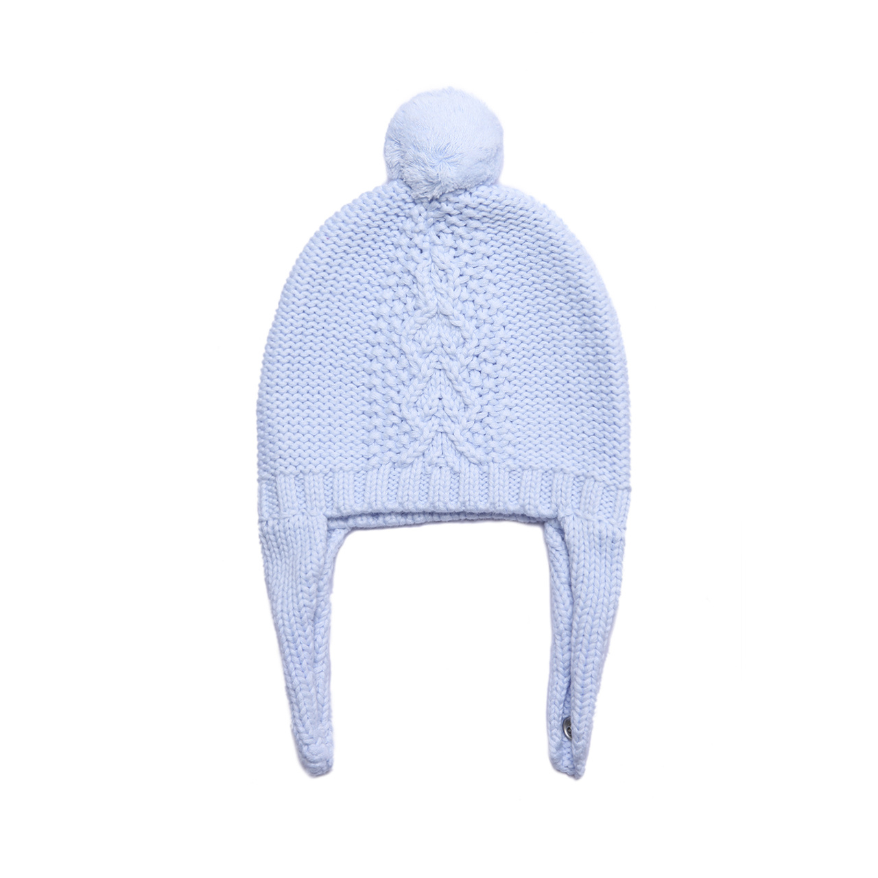 Angel Dear Cable Knit Pilot Hat - Pale Blue