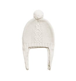 Angel Dear Cable Knit Pilot Hat - Ivory
