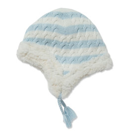 Angel Dear Sherpa Pilot Hat - Pale Blue