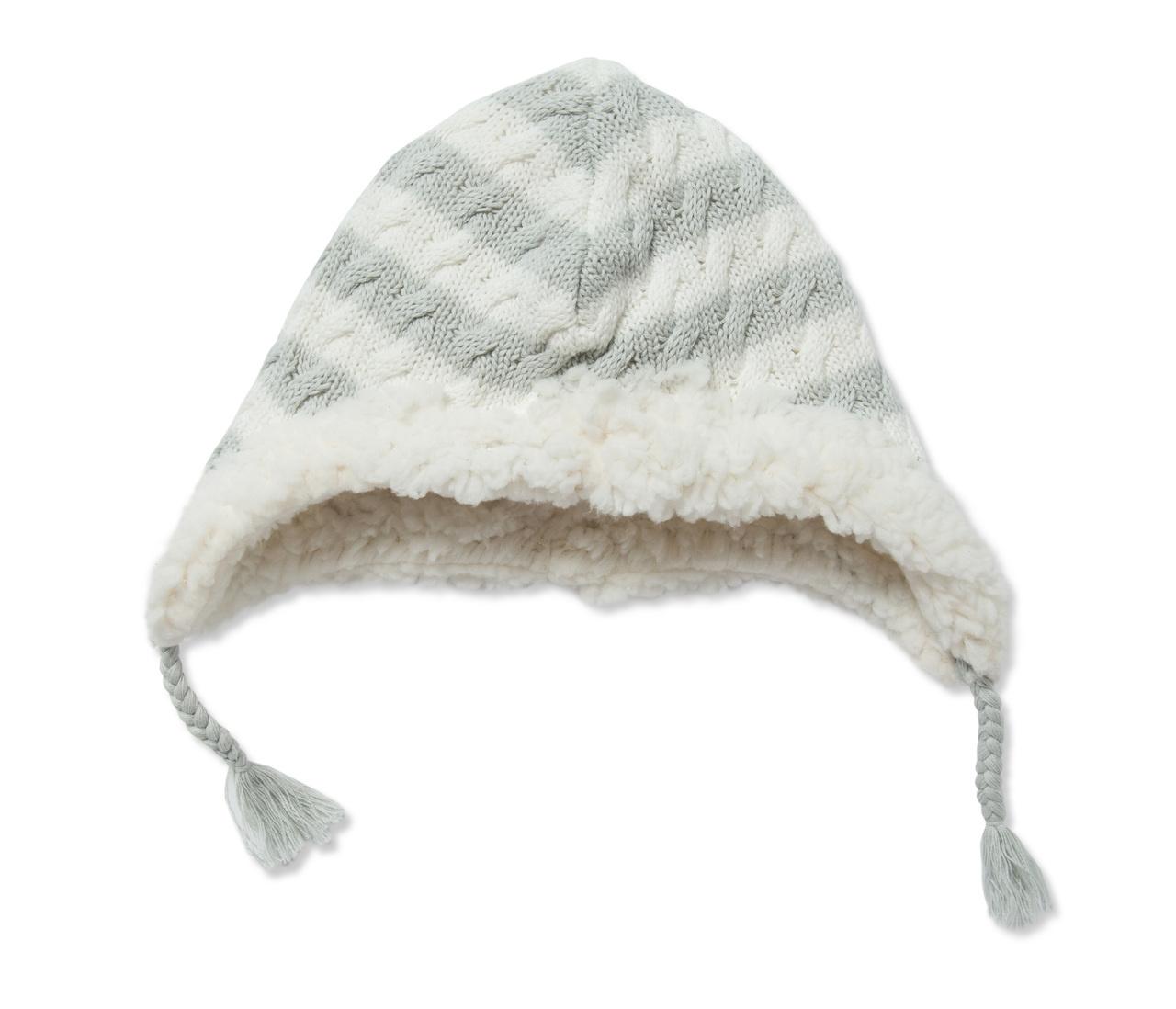 Angel Dear Sherpa Pilot Hat - Grey