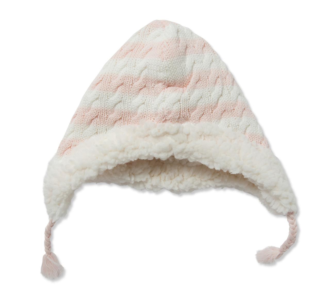 Angel Dear Sherpa Pilot Hat - Pale Pink