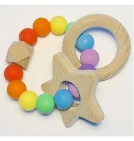 Sugar + Maple Sugar + Maple Rainbow Silicone Teether