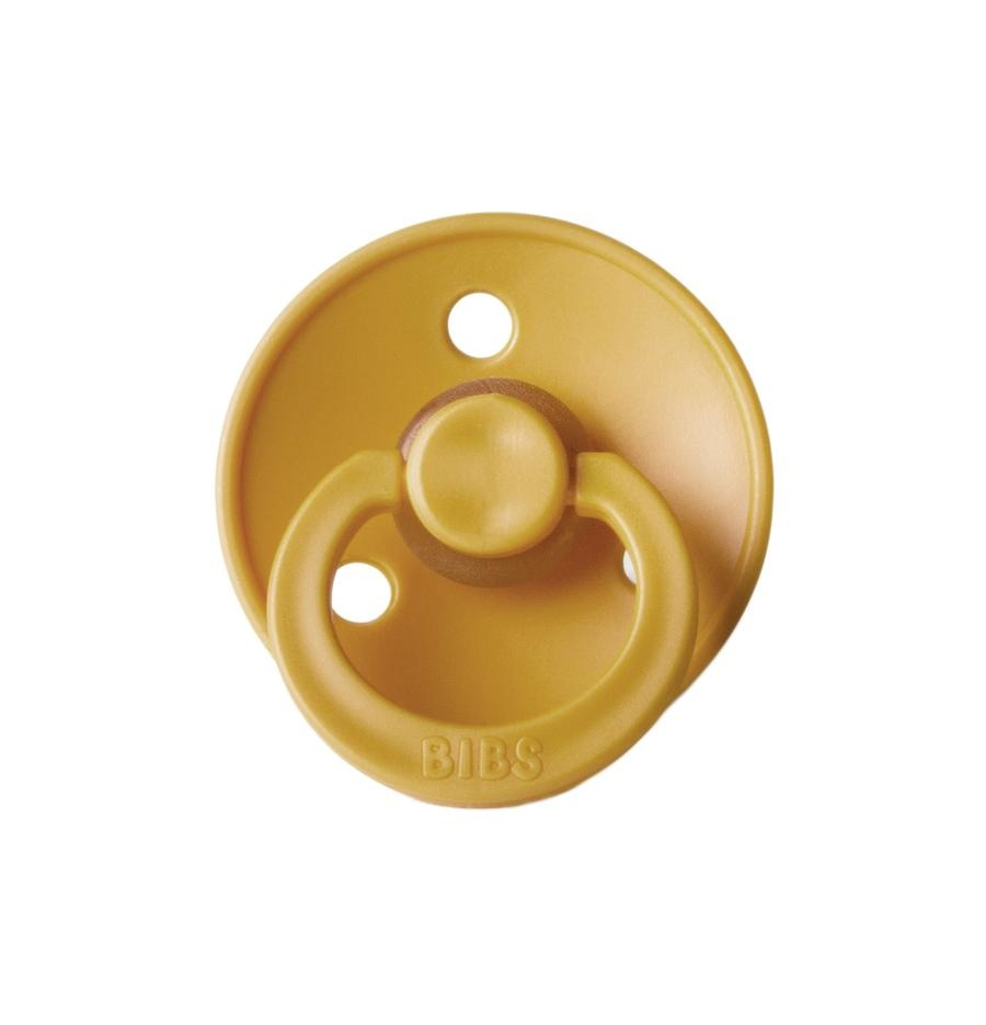 BIBS BIBS Classic Round Natural Rubber Pacifier (various colors)