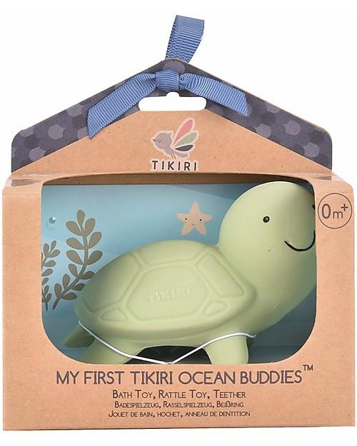 Tikiri Ocean Buddy Natural Rubber Teething Rattle Bath Toy