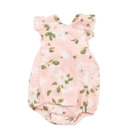 Angel Dear Muslin Sunsuit - Pink Magnolias
