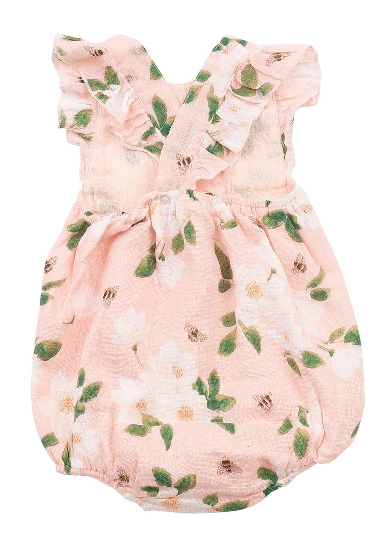 Angel Dear Muslin Sunsuit - Pink Magnolias