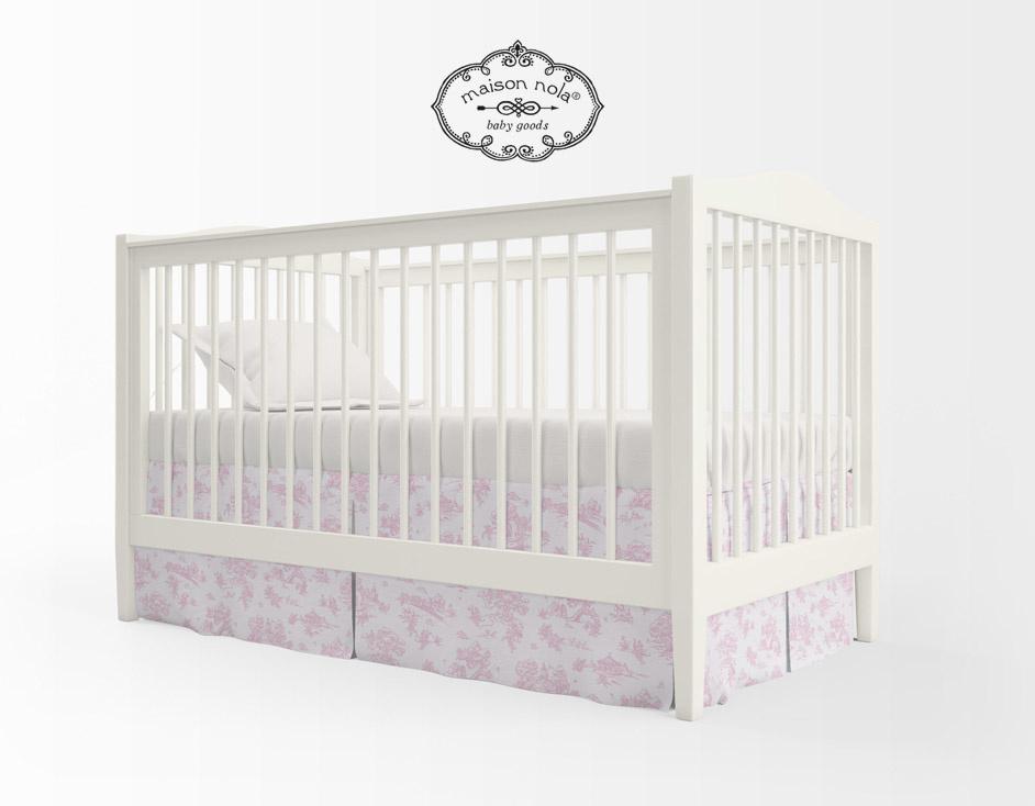 Maison Nola Storyland Toile Crib Skirt