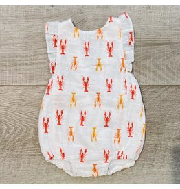 Nola Tawk Crawfish Dots Organic Muslin Sunsuit