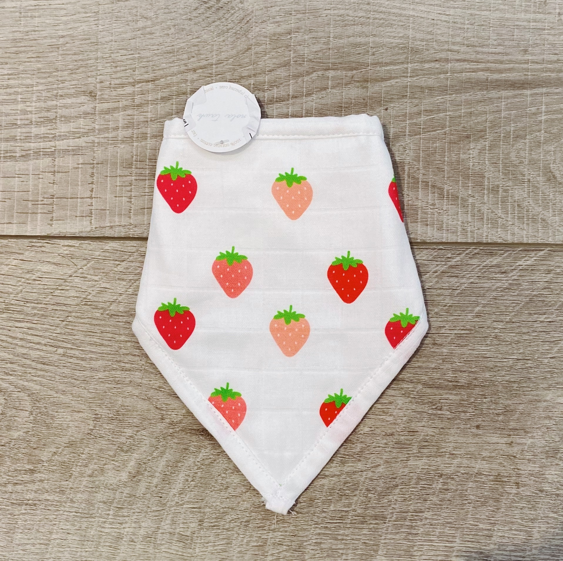 Nola Tawk LA Strawberries Muslin Bib