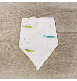 Nola Tawk Alligators Muslin Bib