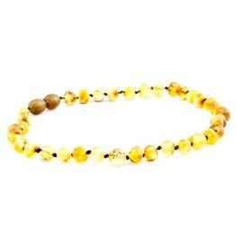 The Amber Monkey The Amber Monkey Baltic Amber 12-13 inch Necklace - Pear (Raw/Screw Clasp)