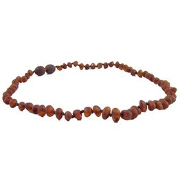 The Amber Monkey The Amber Monkey Baltic Amber 12-13 inch Necklace - Chestnut (Raw/Screw Clasp)