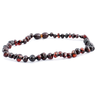 The Amber Monkey The Amber Monkey Baltic Amber 12-13 inch Necklace - Chestnut (Polished/Pop Clasp)