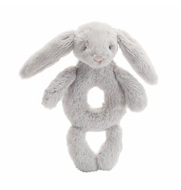 Jellycat Jellycat Bashful Grey Bunny Ring Rattle