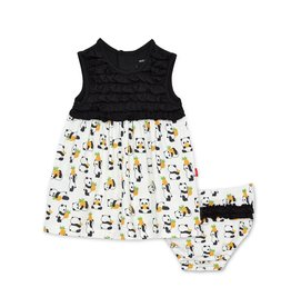 Magnetic Me Magnetic Me Modal Dress + Diaper Cover - Pudgy Pineapple