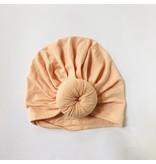 Sugar + Maple Sugar + Maple Baby Top Knot Hat
