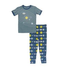 KicKee Pants KicKee Pants Short Sleeve PJ Set - Twilight Planets