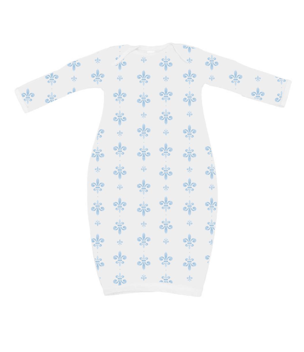 Nola Tawk Fleur de Lis Organic Cotton PJ Set - Blue