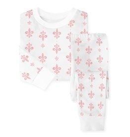 Nola Tawk Fleur de Lis Organic Cotton PJ Set - Pink
