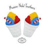 Maison Nola Snowball Silicone Teethers