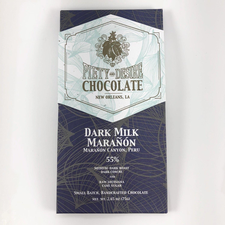 Piety & Desire Piety & Desire Local Milk Chocolate Bar - 55% Milk Dark Marañón